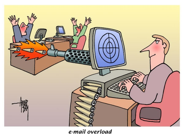 boss sending e-mails