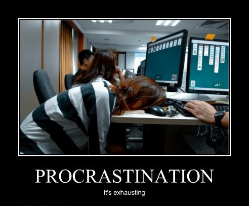 procrastination is exhausting